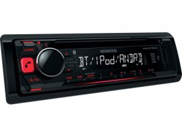 KENWOOD KDC-BT500U 1DIN autorádio s CD/MP3/WMA/AAC přehrávačem s USB, AUX, Bluetooth
