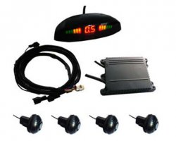 Parkovací systém bezdrátový 4 senzorový 12-24 LED displej
