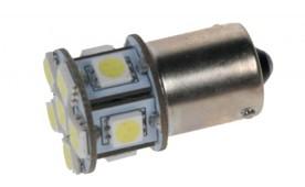 LED žárovka 12V s paticí BA 15s bílá, 11LED/3SMD