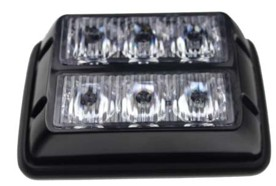 PREDATOR dual 6x1W LED, 12-24V, oranžový