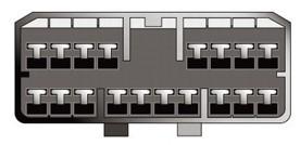 Konektor ISO SSANGYONG starší modely