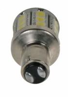 LED žárovka 12V s paticí BAY 15d(dvouvlákno) bílá, 28LED/3SMD