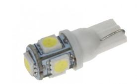 LED žárovka 24V s paticí T10 bílá, 5LED/3SMD