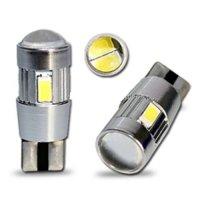 LED T10 bílá, 12V, 6LED/5630SMD s čočkou