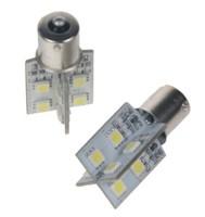 LED žárovka 12V s paticí BAU15S bílá, 16LED/3SMD
