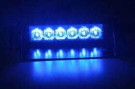 PREDATOR LED vnitřní, 6X1W LED, 12V, modrý